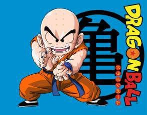 Quadro de Metal 26x19 Dragon Ball - Kuririn