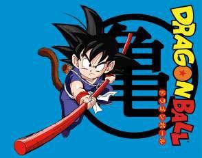 Quadro de Metal 26x19 Dragon Ball - Goku