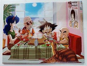 Placa de Metal 26x19 Dragon Ball - Mestre Kame Casa