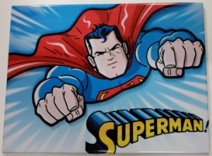 Quadro de Metal 26x19 Superman