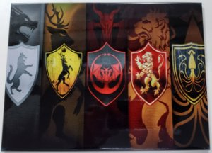 Quadro de Metal 26x19 Game of Thrones - Casas