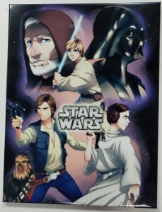 Quadro de Metal 26x19 Star Wars