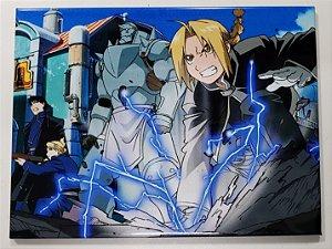 Placa de Metal 26x19 Fullmetal Alchemist - Batalha