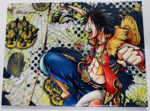 Placa de Metal 26x19 One Piece - Luffy