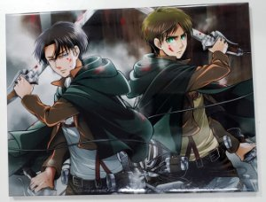 Placa de Metal 26x19 Attack on Titan - Levi e Eren