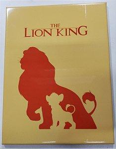 Placa de Metal 26x19 Rei Leão - Silhuetas