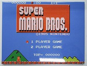 Placa de Metal 26x19 Super Mario Bros