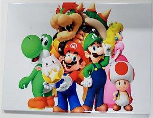 Placa de Metal 26x19 Super Mario - Turma