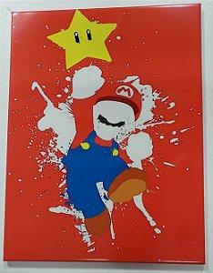 Quadro de Metal 26x19 Super Mario - Arte