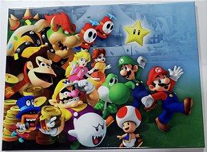 Placa de Metal 26x19 Super Mario - Estrela
