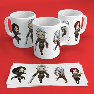 Caneca 300ml The Witcher - Personagens