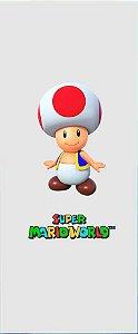 Quadro de Metal 26x11 Mario - Toad
