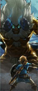 Quadro de Metal 26x11 Zelda Breath Of The Wild - Lynel
