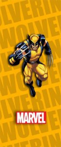Quadro de Metal 26x11 X-Men - Wolverine