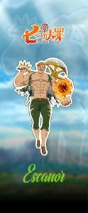 Quadro de Metal 26x11 Seven Deadly Sins - Escanor