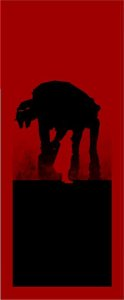 Quadro de Metal 26x11 Star Wars -  AT-AT