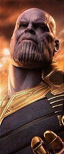 Quadro de Metal 26x11 Avengers - Thanos