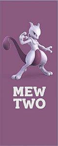 Quadro de Metal 26x11 Pokémon - Mewtwo