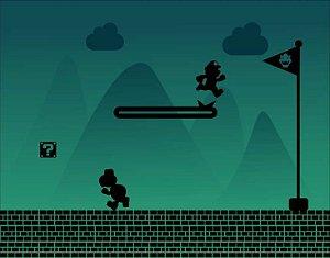 Quadro de Metal 26x19 Super Mario