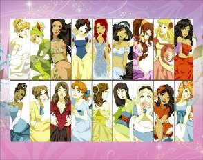 Quadro de Metal 26x19 Disney - Princesas