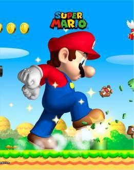 Quadro de Metal 26x19 Mario - Super Mario