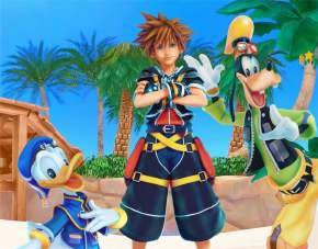 Quadro de Metal 26x19 Kingdom Hearts