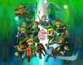 Quadro de Metal 26x19 Zelda - 25 Anos