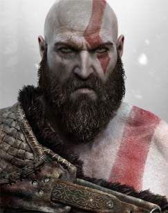 Quadro de Metal 26x19 God of War - Kratos Face