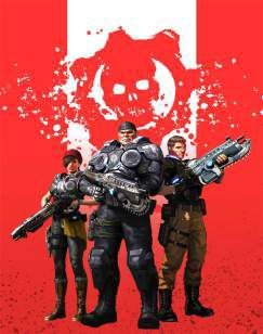 Quadro de Metal 26x19 Gears Of War 5