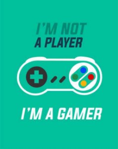 Quadro de Metal 26x19 I'M Not a Player I'M A Gamer