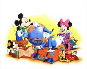 Quadro de Metal 26x19 Mickey e Amigos