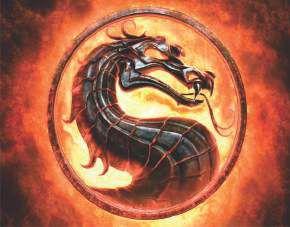 Quadro de Metal 26x19 Mortal Kombat Símbolo