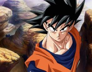 Quadro de Metal 26x19 Dragon Ball  Z - Goku Badass