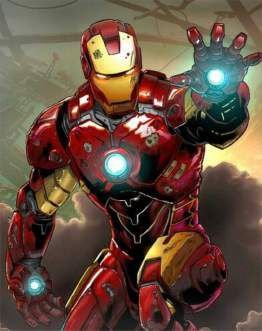 Quadro de Metal 26x19 Vingadores - Iron Man Mark II