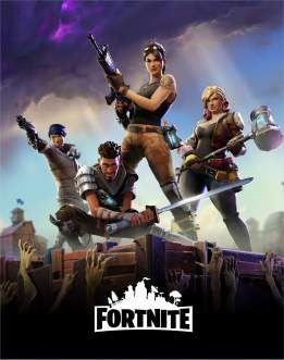 Quadro de Metal 26x19 Fortnite