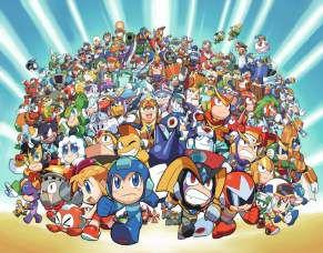 Quadro de Metal 26x19 Mega Man - Turma em Ação