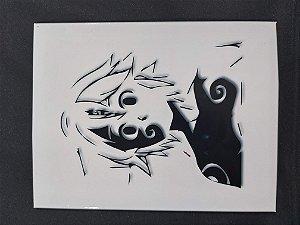 Quadro de Metal 26x19 Nanatsu no Taizai - Meliodas Marca demoníaca