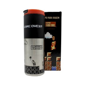 Copo para Viagem Smart 500ml Super Mario - Game Over Retrô