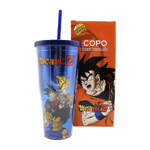 Copo com Canudo 650ml Dragon Ball Z - Esferas do Dragão