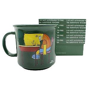 Caneca Tom 350ml Os Simpsons - Bart Lousa