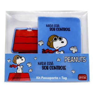 Kit Viagem (Passaporte + Tag) Snoopy - Sob Controle