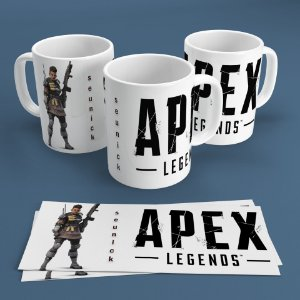 Caneca Personalizada 300ml Apex Legends Nickname - Bangalore