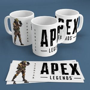 Caneca Personalizada 300ml Apex Legends Nickname - Bloodhound