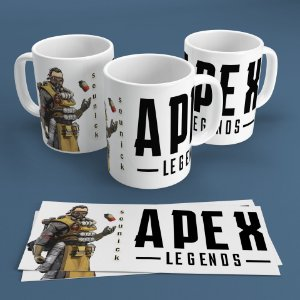 Caneca Personalizada 300ml Apex Legends Nickname - Caustic