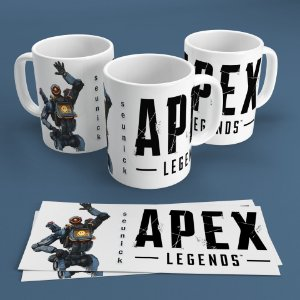 Caneca Personalizada 300ml Apex Legends Nickname - Pathfinder
