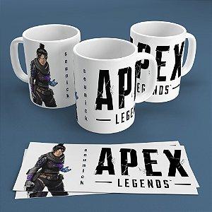 Caneca Personalizada 300ml Apex Legends Nickname - Wraith