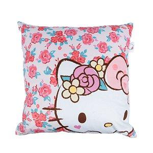 Capa de Almofada 45cm x 45cm Hello Kitty - Rosas