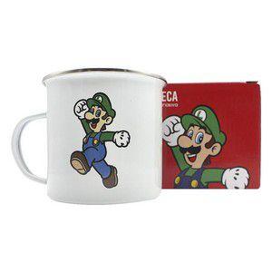 Caneca Metal Agata 500ml Super Mario - Luigi