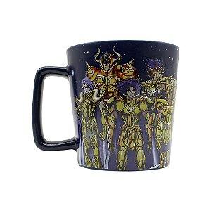 Caneca Buck 400ml Cavaleiros do Zodíaco - Cavaleiros de Ouro
