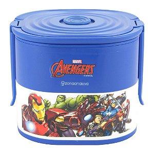 Lunch Box c/ 2 Compartimentos 500ml Cada Mavel - Avengers